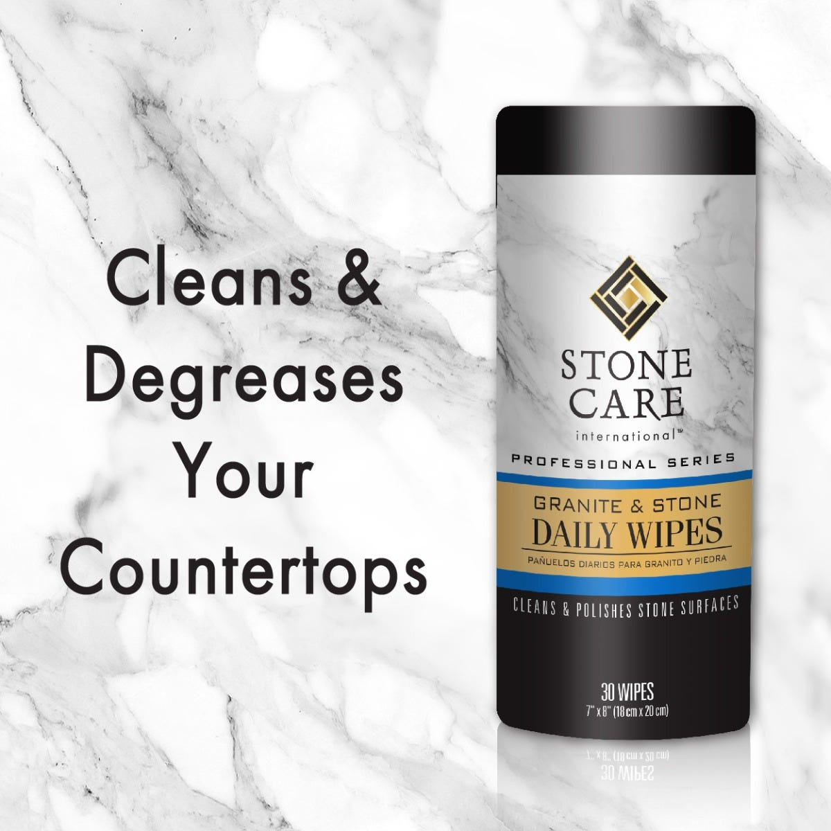Cleans and degreases countertops