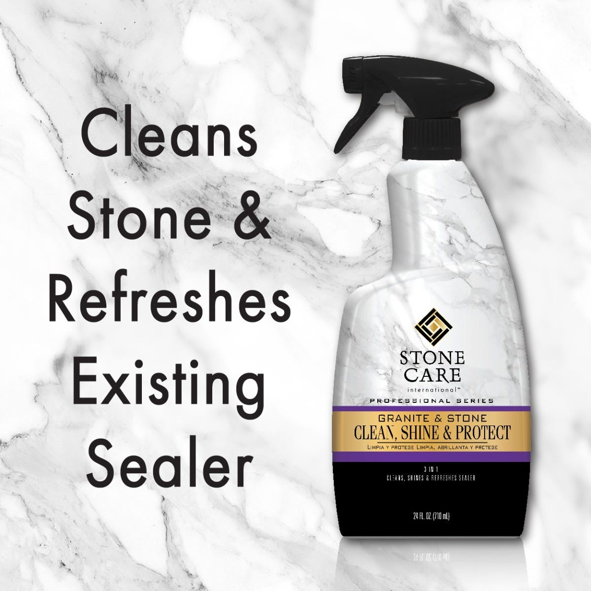 Cleans stone & refreshes existing sealer