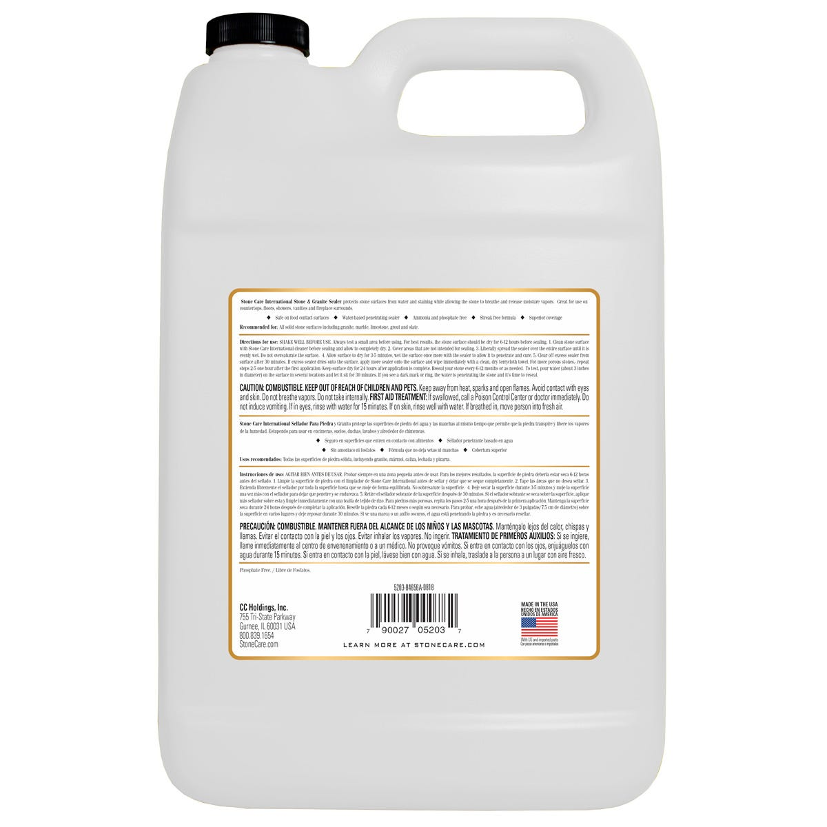 Gallon Sealer Back Label