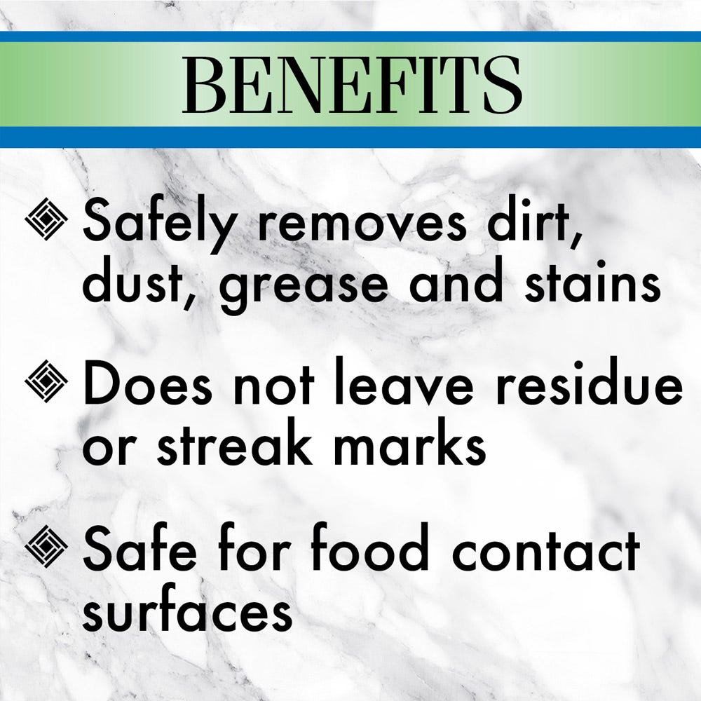 Leaves no residue or streak marks