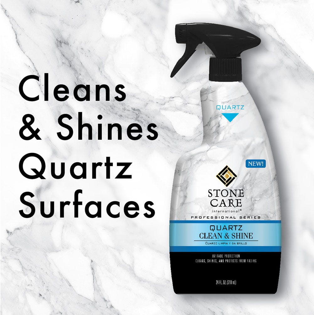 Cleans & shines quartz