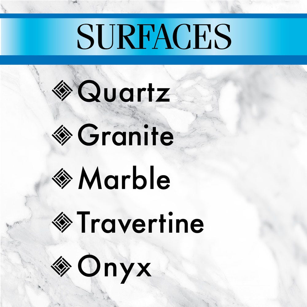 Use on quartz or granite