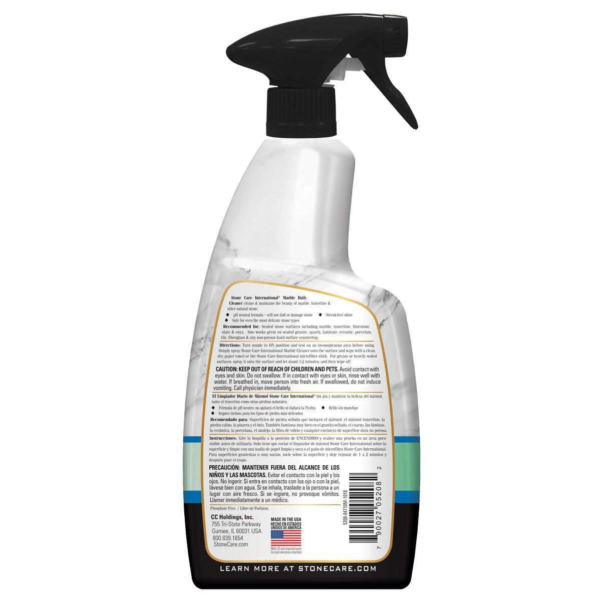 Marble cleaner back label