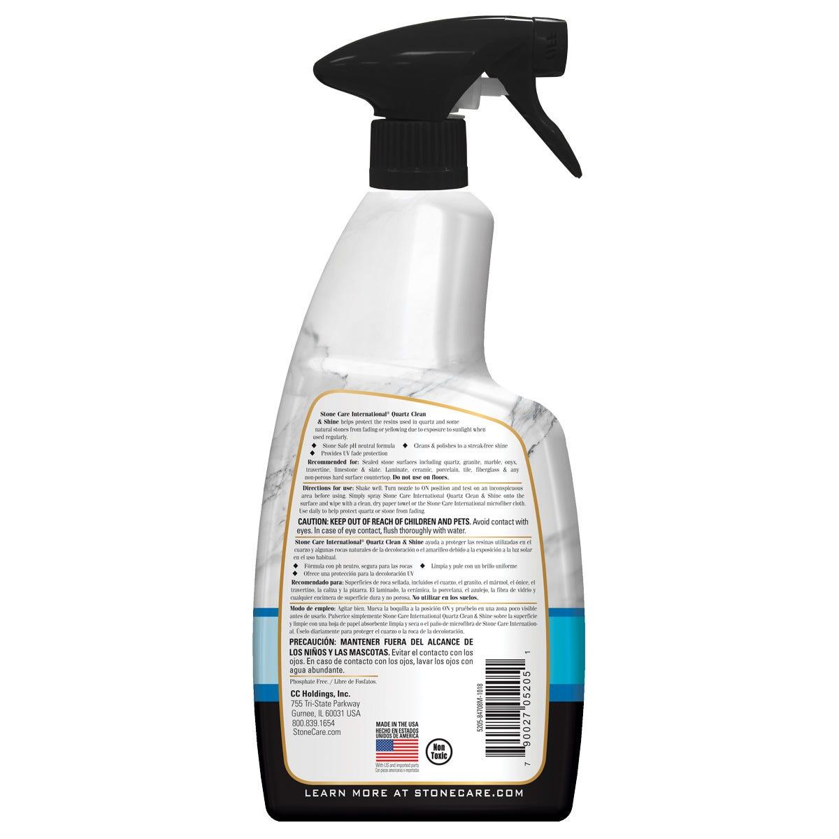 Quartz Clean & Shine Back Label