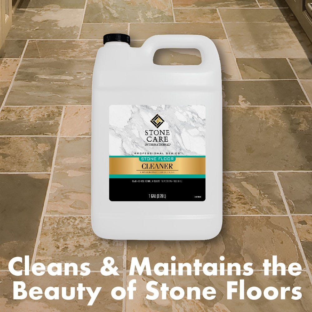 cleans & Maintains beauty of stone floors