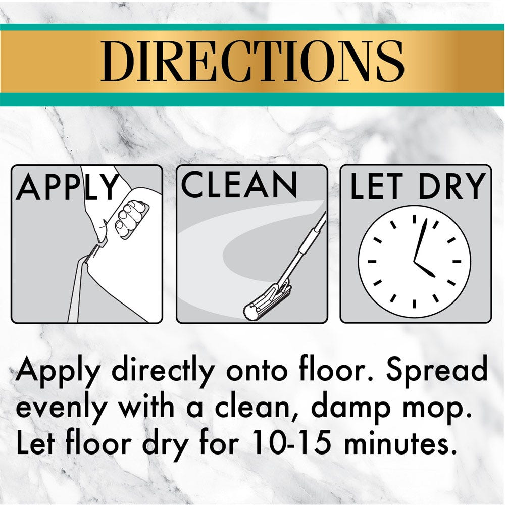 Apply, clean and let dry